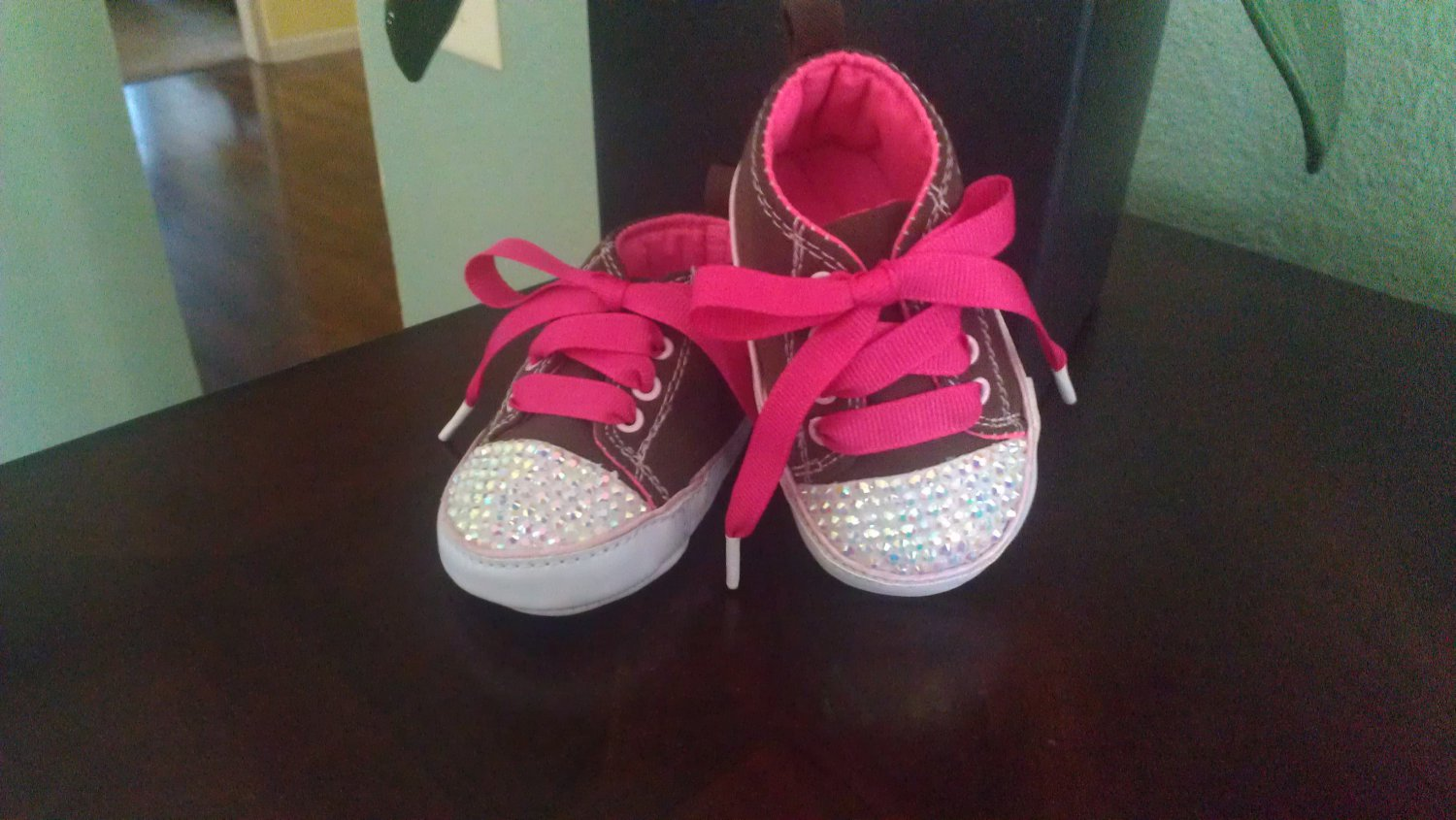 Jewel Newborn/Infant crystal sneakers size 0-3 months