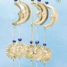 28465 Brass Moon, Star, Sun Wind Chimes