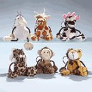Plush Animal Keychains