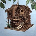Wood Fishing Cabin Birdhouse