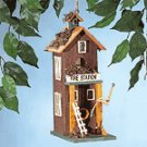 2-Story Fire Station Birdhouse