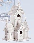 Wood Distressed Victorian Birdhouse