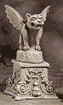 Alabastrite Gargoyle On Pedestal