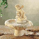Alabastrite Cherub Water Fountain