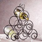 Wrought Iron Swirl Wine Rack