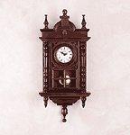 Hardwood Hand-Carved Clock