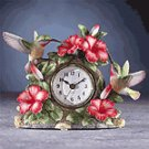 Porcelain Hummingbird On Clock