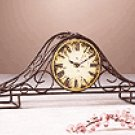 Metal Wire Mantle Clock