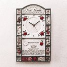 Alabastrite Fruit Stand Wall Clock
