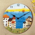 Patchwork Fabric Coast Clock