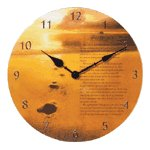 Footprints Patchwork Clock