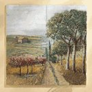 4 Pc. Country Patchwork Mural