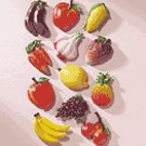Alabastrite Fruit & Veggie Magnetic Memo Holders