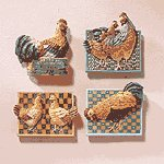 12-Piece Alabastrite Chicken Magnetic Memo Holder