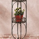 Metal 2-Tier Planter Shelf
