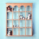 16-Compartment Wood Wall Curio