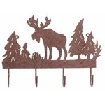 "Rusted Metal ""Moose"" Coat Hanger"