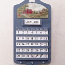 Wood Barn Scene Wall Calendar & Key Holders