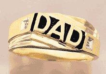 "10K Gold ""Dad"" Diamond Ring"