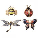 Enamel Insects Pins