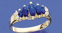 10K Gold Lady's Sapphire Diamond Ring