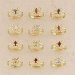 3-Dozen Butterfly Birthstone Ring