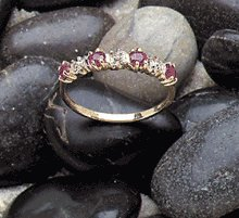 10K Gold Lady's Ruby Diamond Ring