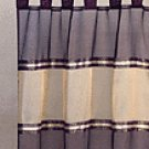 Burgundy Gold Trim Curtain