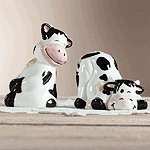 Black & White Cow Salt & Pepper Shakers