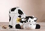 Porcelain Cow Cookie Jar