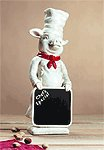 Alabastrite Pig Chef With Chalkboard