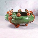 Majolica Frogs Bowl