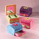 Plush Flower Jewelry Box