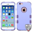 TUFF Hybrid Phone Protector Cover Case For Apple Iphone 6S 6 (Lavendar/Purple)