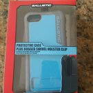 Ballistic HC Rugged Hard Core Case Holster Clip For iPhone 5 5S SE - Blue/Grey