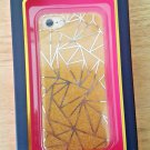 DABNEY LEE Hardshell Case with TPU insert iPhone 7 Gold Glitter/Silver New