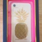 DABNEY LEE Flex-Fit Case for iPhone 7 iPhone 6/6S Pineapple/Gold GL/Clear New