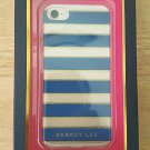 DABNEY LEE Hardshell Case with TPU insert iPhone 7 Blue/Gold/Clear New