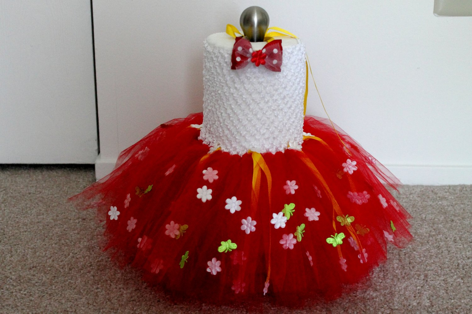 Flower and Butterfly Tutu Dress