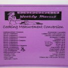 Cooking Measurement Conversion Fridge Magnet