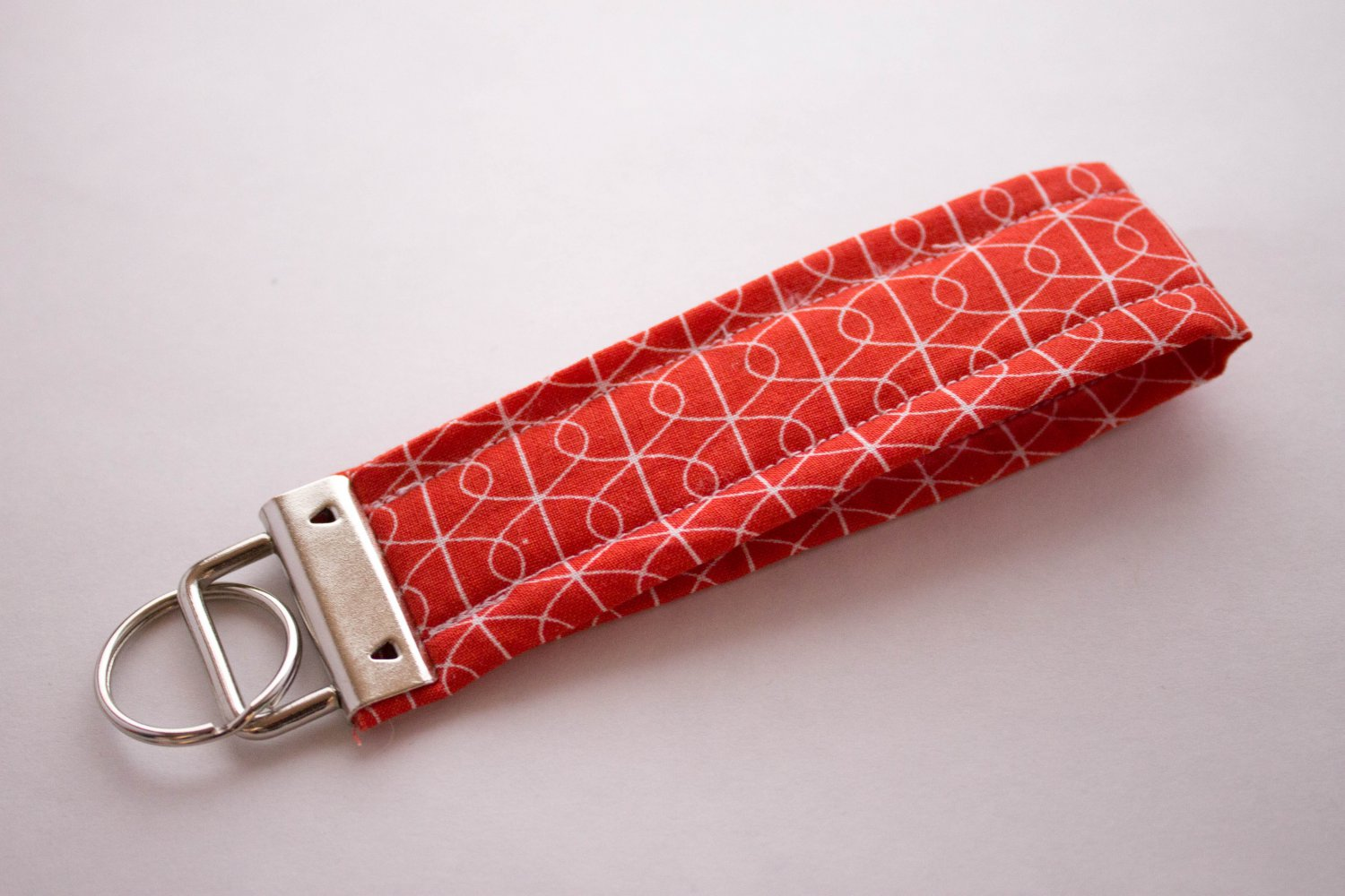 Red Curve Key Fob Wristlet