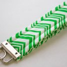 Green Stripe Key Fob Wristlet
