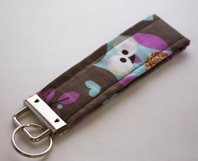 Owl Key Fob Wristlet