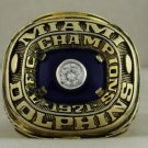 1971 Miami Dolphins  AFC American Football Conference Championship Rings Ring