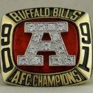 1991 Buffalo Bills AFC American Football Conference Championship Rings Ring