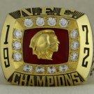1972 Washington Redskins NFC National Football Conference Championship Rings Ring