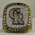 2007 Colorado Rockies NL National League World Series Championship Rings Ring