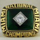 1987 Miami Hurricanes NCAA National Championship Ring
