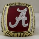 2009 Alabama Crimson Tide NCAA SEC National Championship Ring