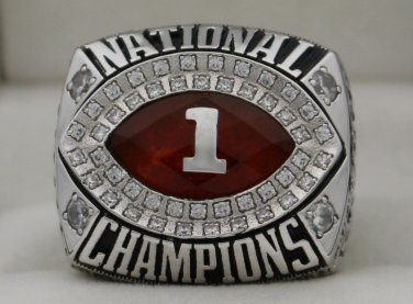 2009 Alabama Crimson Tide NCAA BCS National Championship Rings Ring